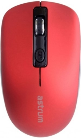 Picture of Astrum MW270 Mouse Wireless 2.4Ghz Recharge Red