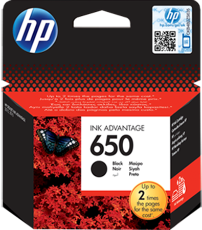 Picture of HP 650 Black Ink