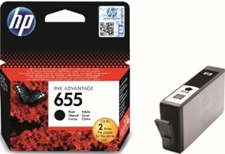 Picture of HP 655 Black Ink Cartridge