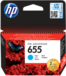 Picture of HP 655 Cyan Ink