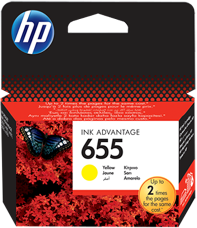 Picture of HP 655 Yellow Ink