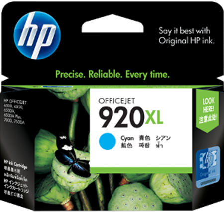Picture of HP 920XL Cyan Officejet Ink