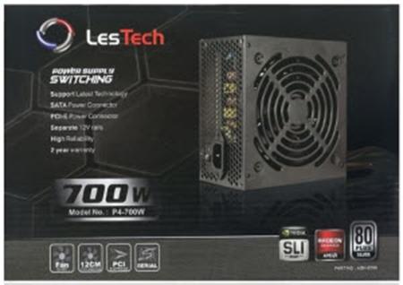 Picture of Lestech 700Watt 80Plus Silver Edition PSU