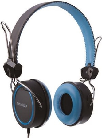Picture of MicroLab K300 Headset 3.5mm Stereo Input Black/Blue