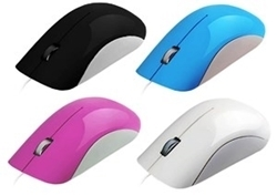 Picture of MU200 Mouse Optical USB in Black, Blue, Red, White