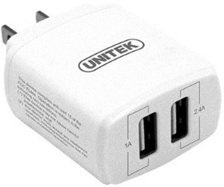 Picture of Unitek 17w 2-Port Usb Smart Wall Charger (Y-P547)