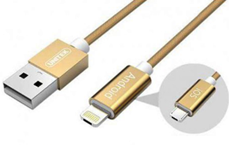 Picture of Unitek Micro USB & Lightning 2 in 1 Cable