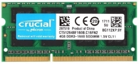 Picture of Crucial 4GB DDR3L 1600Mhz Laptop RAM