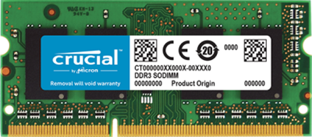 Picture of Crucial 8GB DDR3L 1600Mhz Laptop RAM