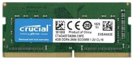 Picture of Crucial 4GB DDR4 2666Mhz Laptop RAM