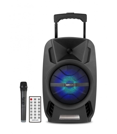 Picture of Wireless Trolley Speaker + Tweeters 30W RMS  / AUX / TF / USB / FM Radio