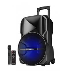 Picture of Wireless Trolley Speaker + Tweeters 60W RMS / AUX / TF / USB / FM Radio