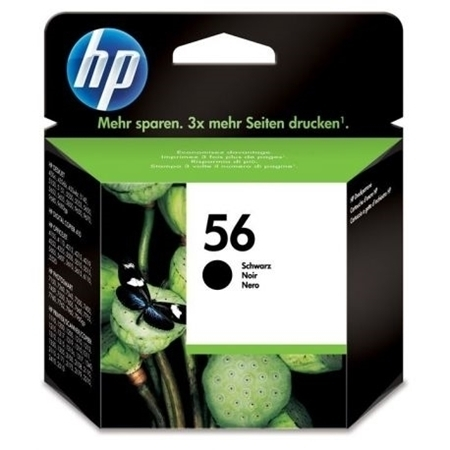 Picture of HP 56 Black Ink Cartridge 19ml; 520 Pages @ 5%