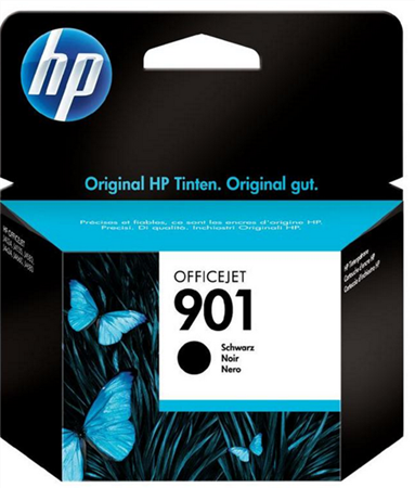 Picture of HP 901 Black Officejet Ink Cartridge; up to 200 pages @ 5%