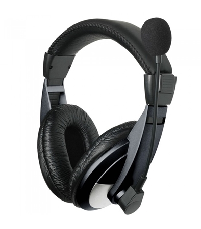 Picture of Astrum HS120 Wired Large Stereo Headphone + Mic