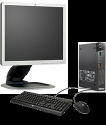 Picture of Lenovo Tiny i5-4570T 8GB 500GB Win7Pro(Win10Pro) 19-inch