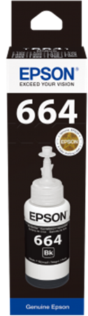 Picture of Epson 664 T6641 Black Ink Bottle 70ml