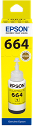 Picture of Epson 664 T6644 Yellow Ink Bottle 70ml