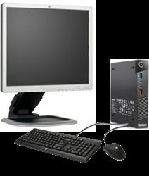 Picture of Lenovo Tiny i5-4570T 8GB 256GB SSD Win7Pro(Win10Pro) 19-inch